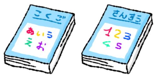 小学生の国語、算数のノート