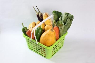 バスケット1杯の野菜