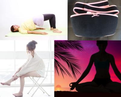 横たわった女性、骨盤ベルト、マッサージする女性、瞑想