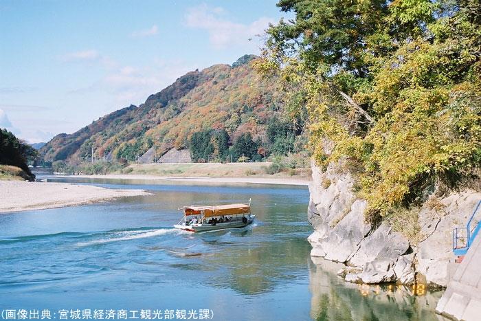 阿武隈川の紅葉