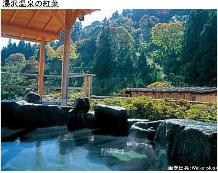 湯沢温泉の紅葉