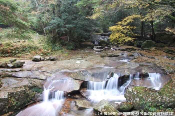 成川渓谷の紅葉