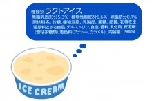 アイスクリームの食品添加物表示