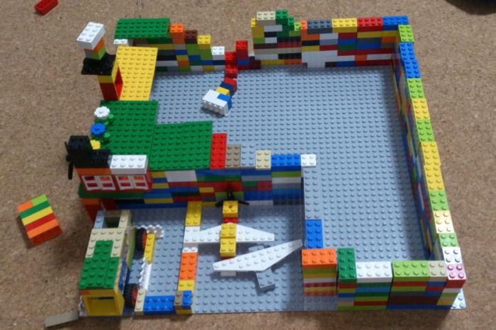 レゴで作った飛行場