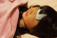 インフルエンザに感染した子供