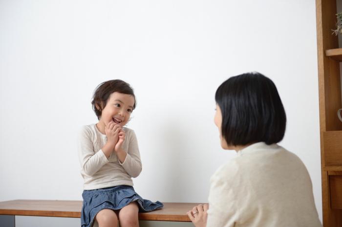 親子で会話