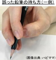 誤った鉛筆の持ち方-1