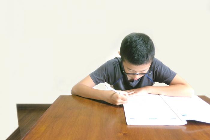 勉強中の小学生