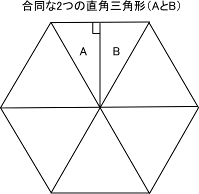 正多角形の直角三角形への分割