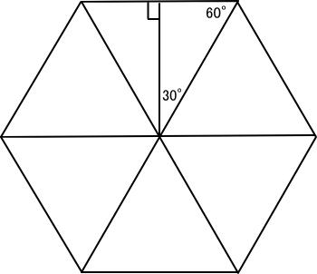 正6角形の直角三角形分割