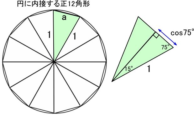 正12角形の三角形分割と辺の長さ