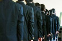 男子校の入学式