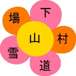 漢字パズル(花形)