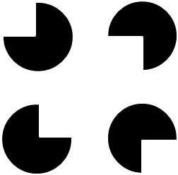 主観的輪郭線が見えない図①