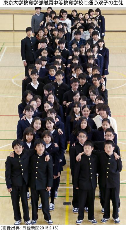 東京大学教育学部附属中等教育学校に通う双子の生徒